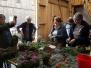 Vorbereitungen für den Bauernmarkt und unser Stand